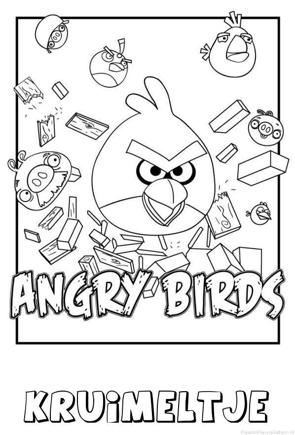 Kruimeltje angry birds kleurplaat
