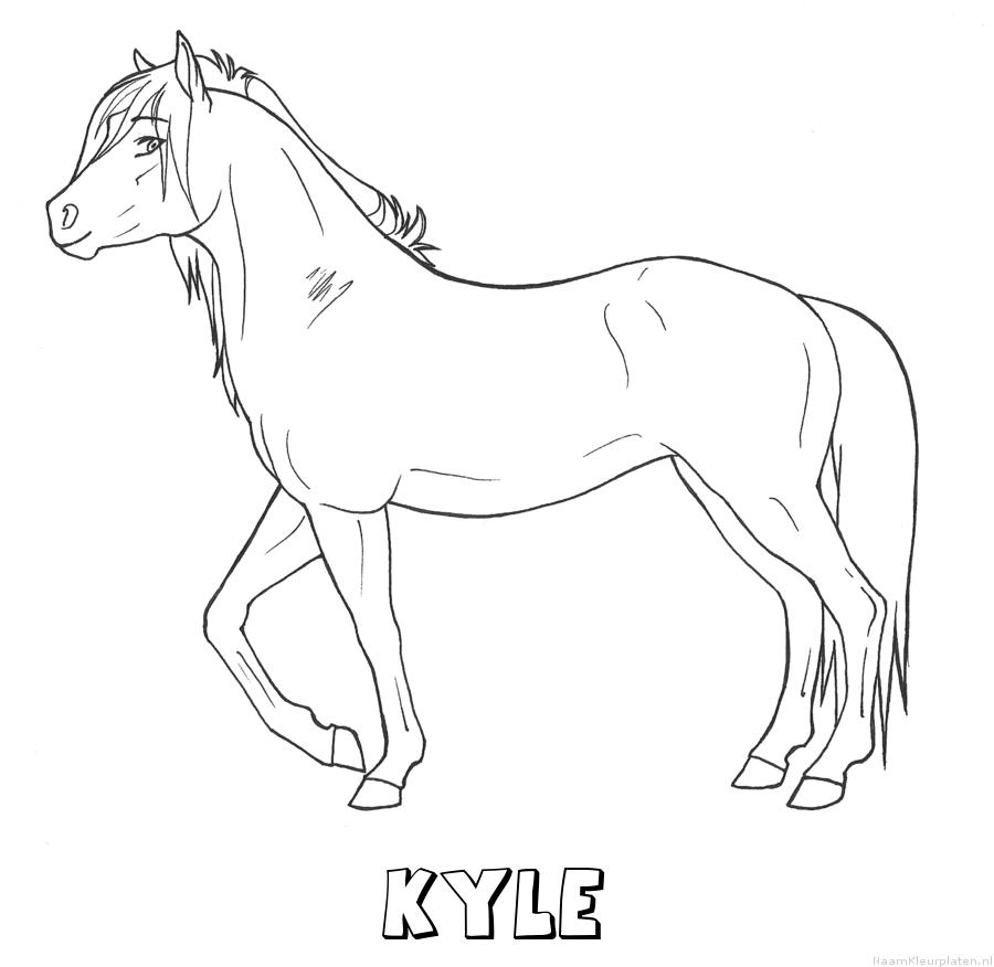 Kyle paard kleurplaat
