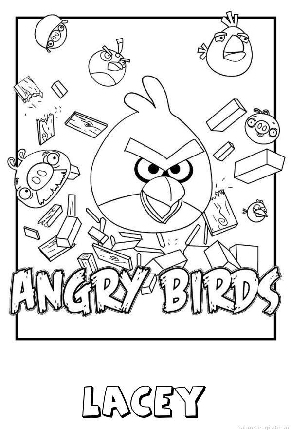 Lacey angry birds kleurplaat