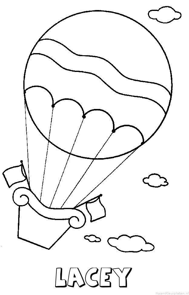 Lacey luchtballon kleurplaat