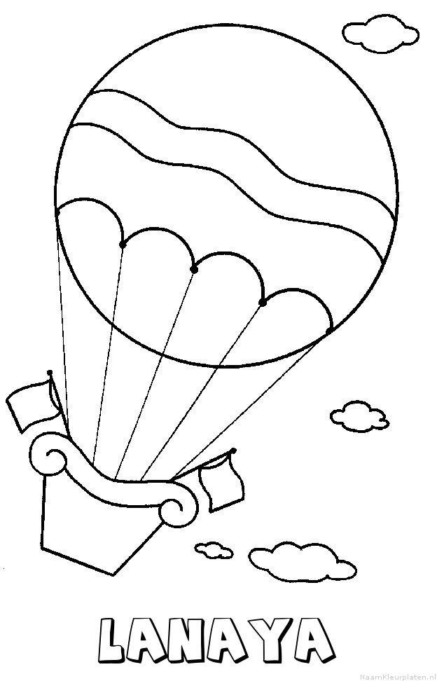 Lanaya luchtballon kleurplaat