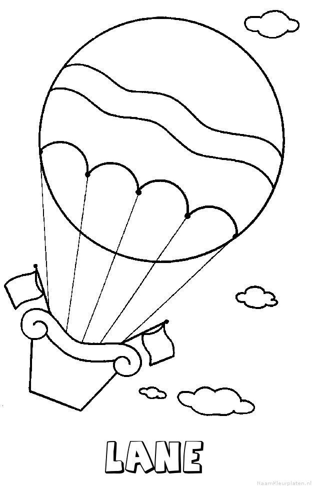 Lane luchtballon kleurplaat