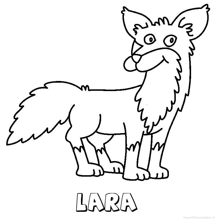 Lara vos kleurplaat