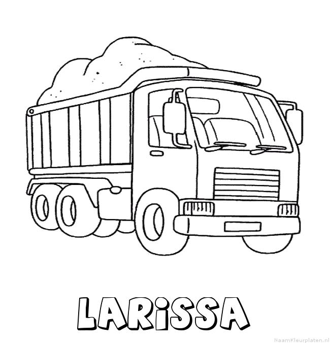Larissa vrachtwagen kleurplaat