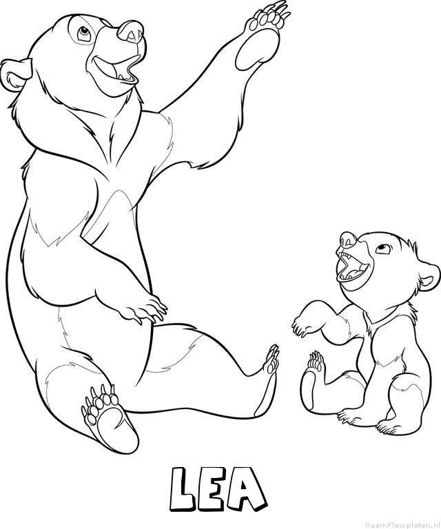 Lea brother bear kleurplaat