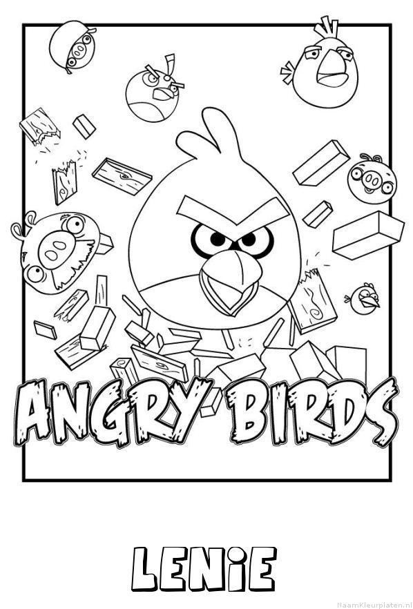Lenie angry birds kleurplaat