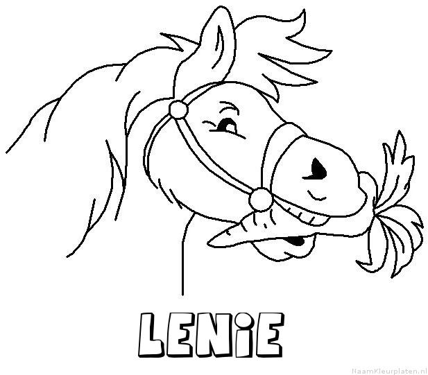 Lenie paard van sinterklaas kleurplaat