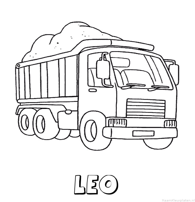 Leo vrachtwagen kleurplaat