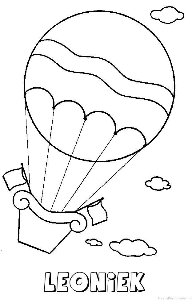 Leoniek luchtballon kleurplaat