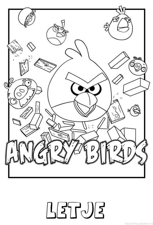 Letje angry birds kleurplaat