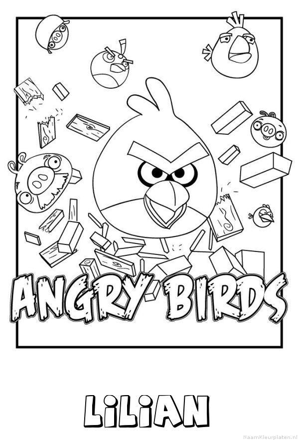 Lilian angry birds kleurplaat