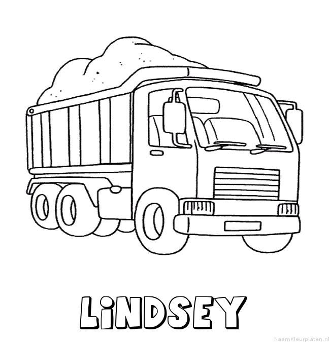 Lindsey vrachtwagen kleurplaat