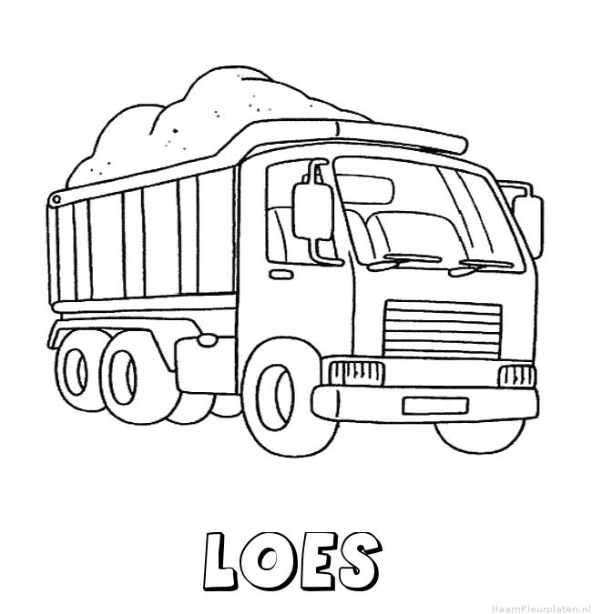 Loes vrachtwagen kleurplaat