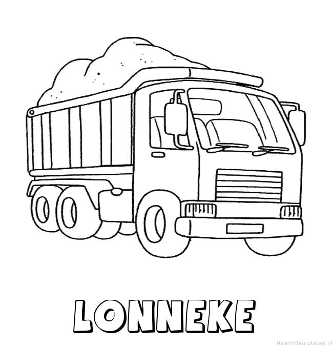 Lonneke vrachtwagen kleurplaat