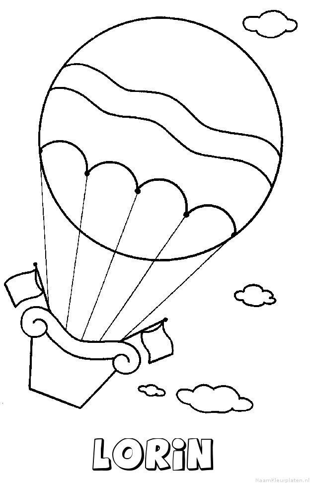 Lorin luchtballon kleurplaat