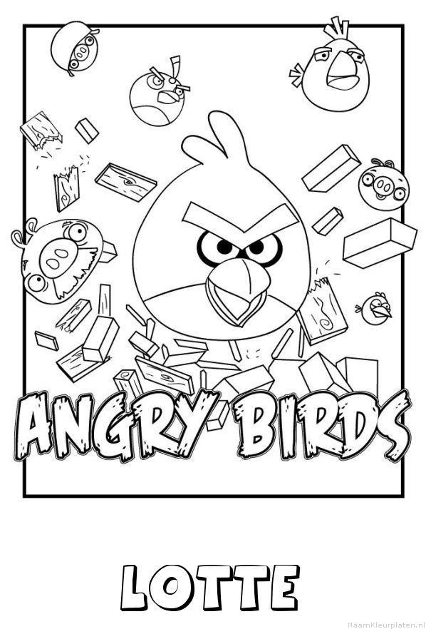 Lotte angry birds kleurplaat
