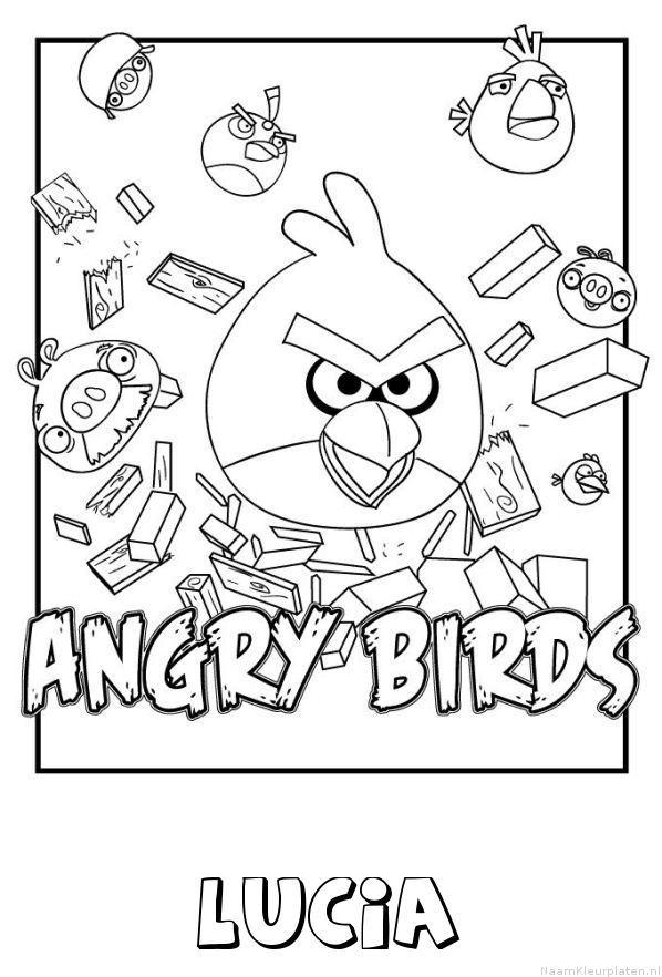 Lucia angry birds kleurplaat