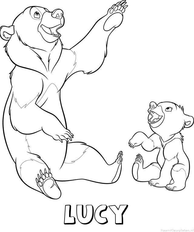 Lucy brother bear kleurplaat