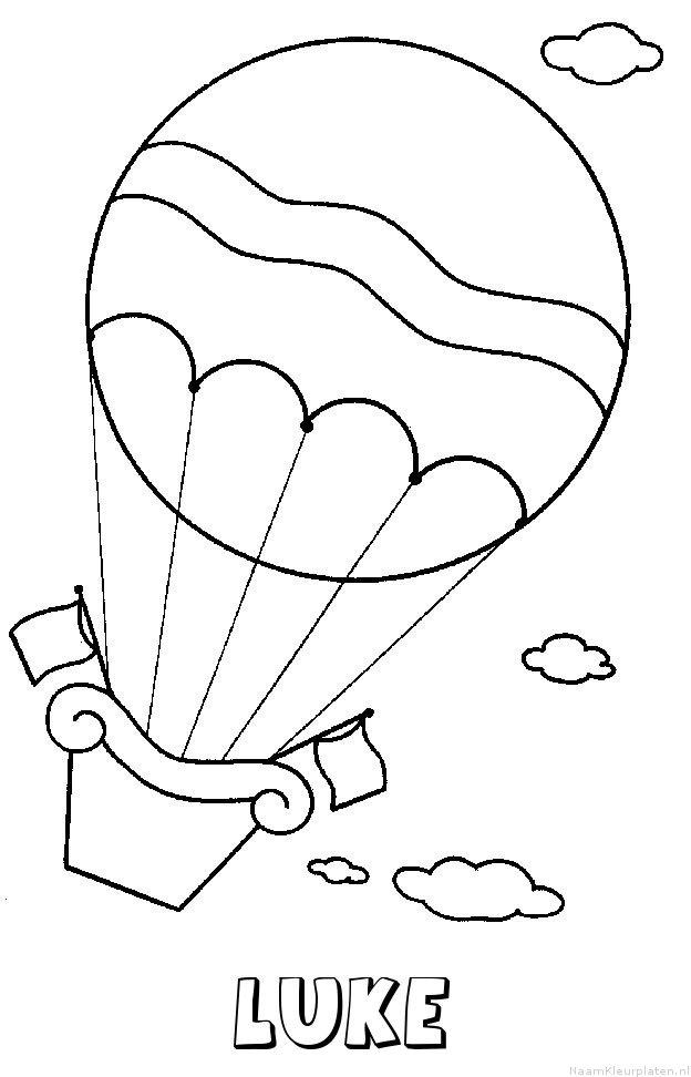 Luke luchtballon kleurplaat
