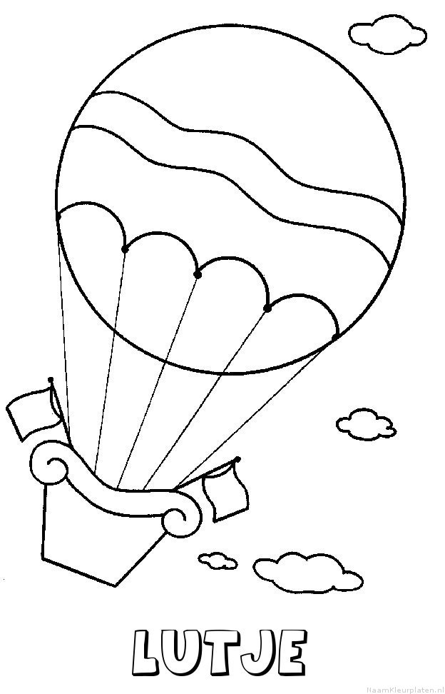 Lutje luchtballon kleurplaat