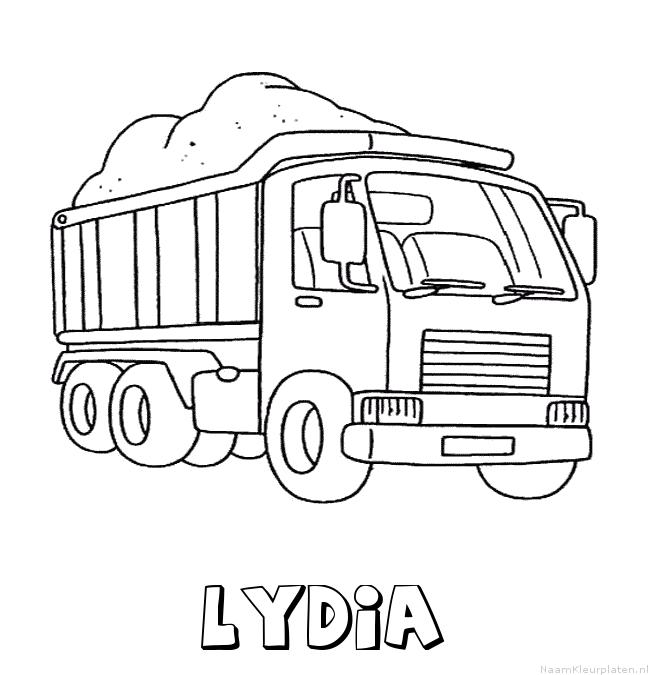 Lydia vrachtwagen kleurplaat