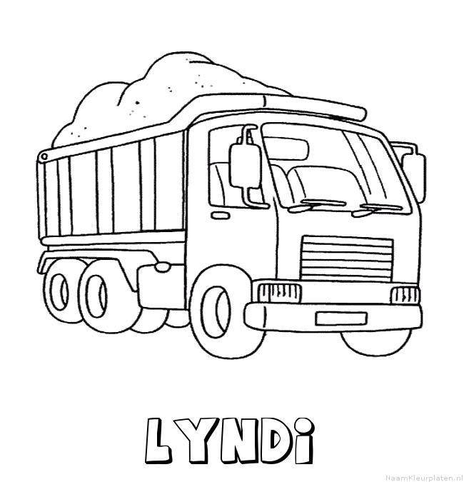 Lyndi vrachtwagen kleurplaat