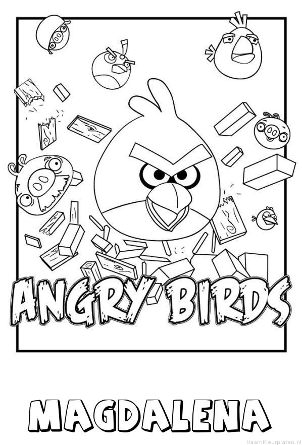Magdalena angry birds kleurplaat