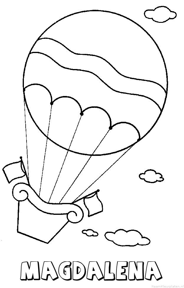 Magdalena luchtballon kleurplaat