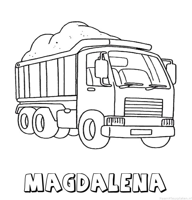 Magdalena vrachtwagen kleurplaat