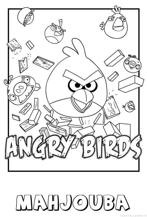 Mahjouba angry birds kleurplaat