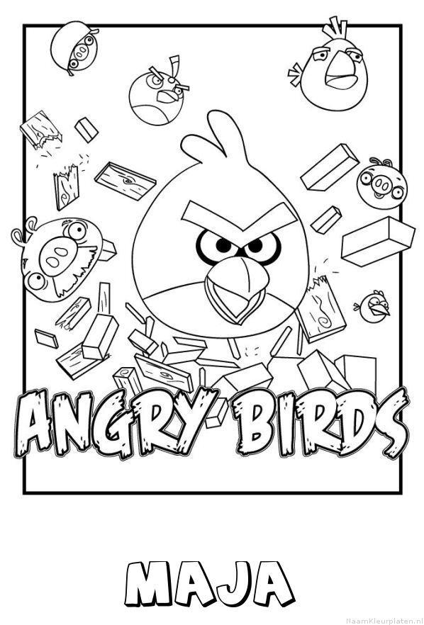 Maja angry birds kleurplaat