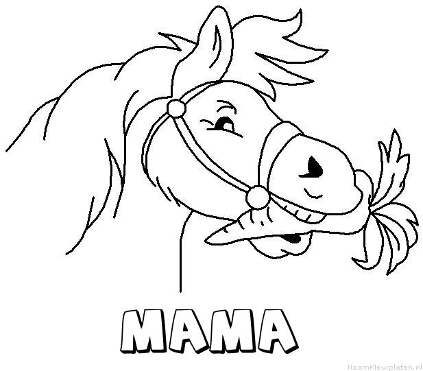 Mama paard van sinterklaas kleurplaat
