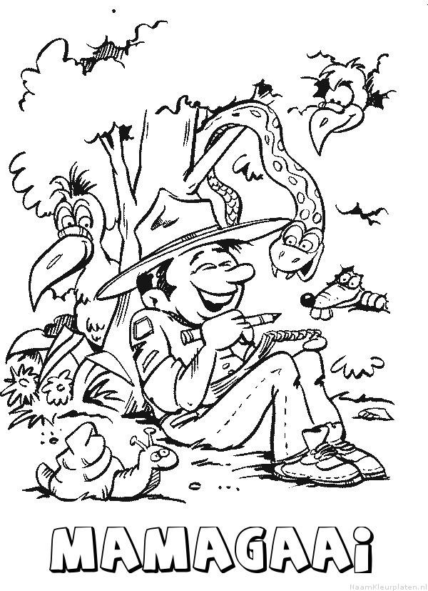 Mamagaai scouting kleurplaat