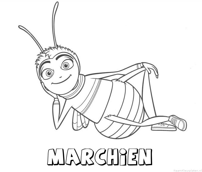 Marchien bee movie kleurplaat