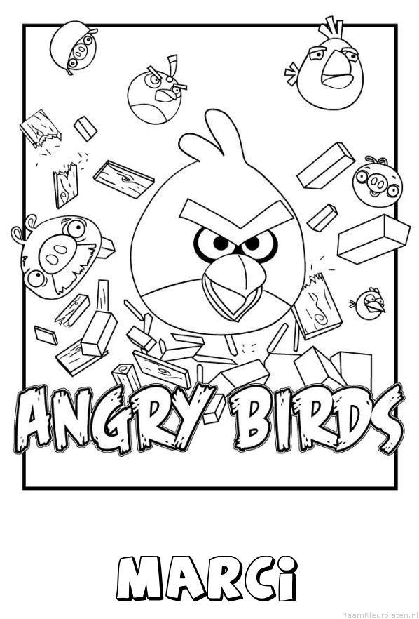 Marci angry birds kleurplaat