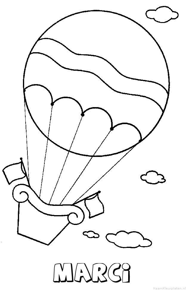 Marci luchtballon kleurplaat