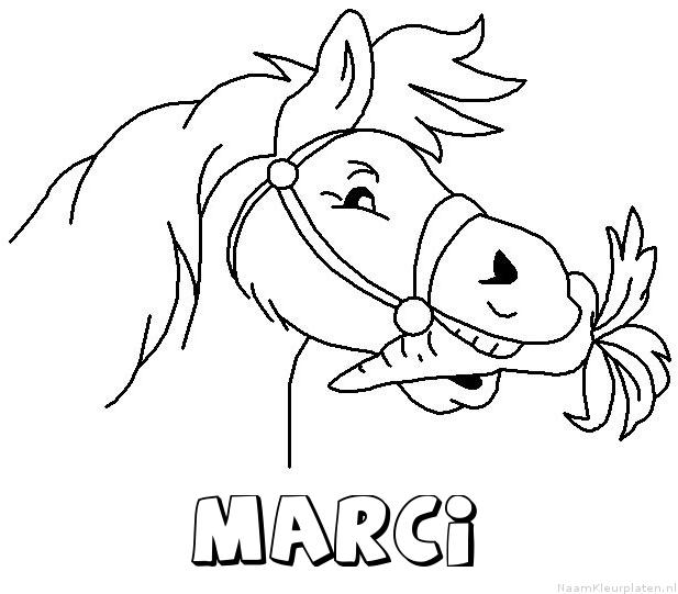 Marci paard van sinterklaas kleurplaat