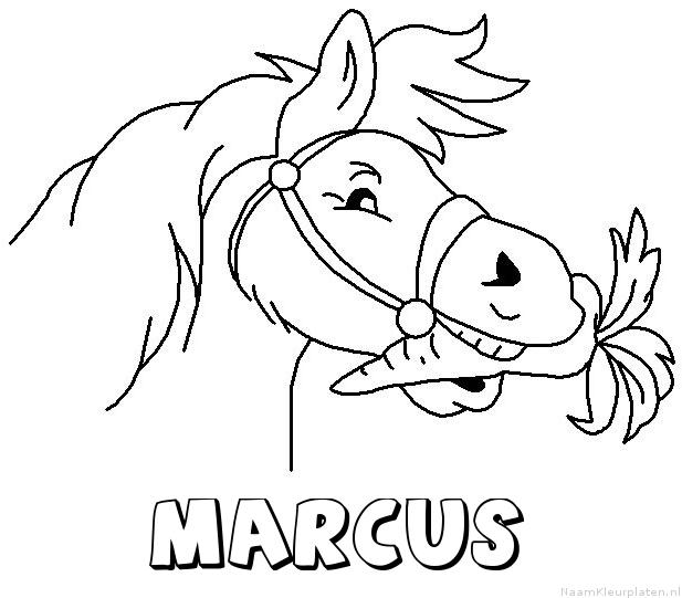 Marcus paard van sinterklaas kleurplaat