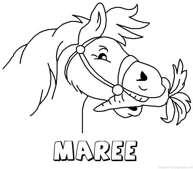 Maree paard van sinterklaas kleurplaat
