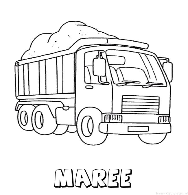 Maree vrachtwagen kleurplaat