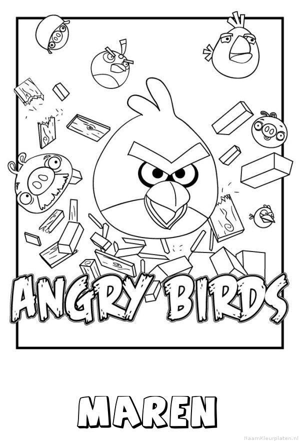Maren angry birds kleurplaat