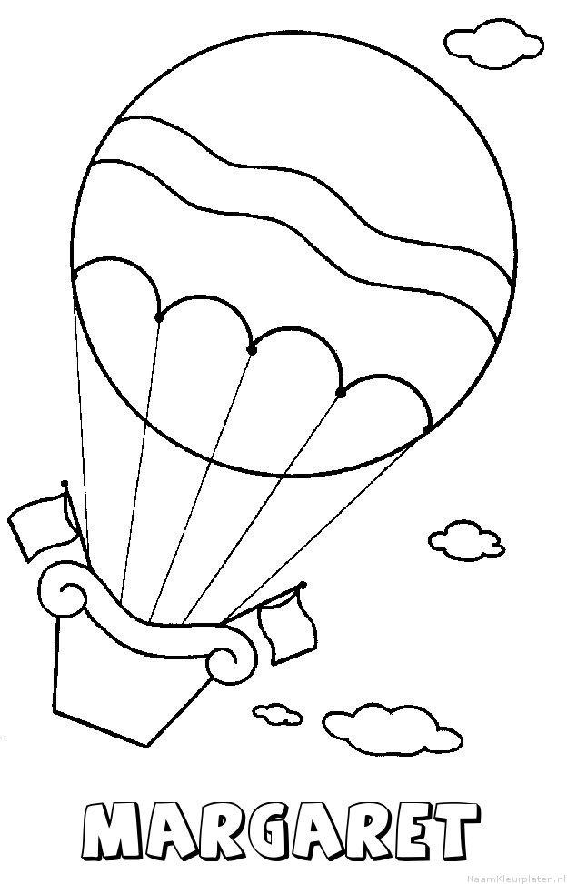 Margaret luchtballon kleurplaat