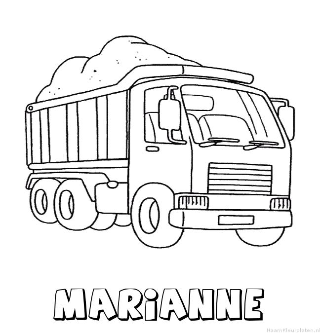 Marianne vrachtwagen kleurplaat