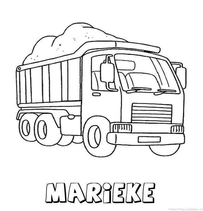 Marieke vrachtwagen kleurplaat