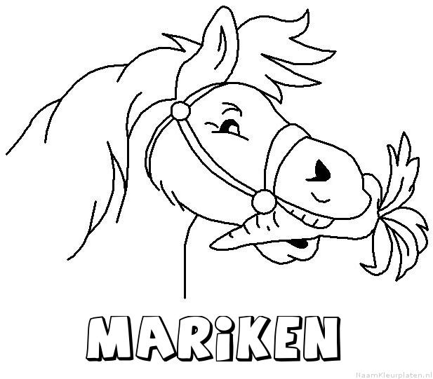 Mariken paard van sinterklaas kleurplaat