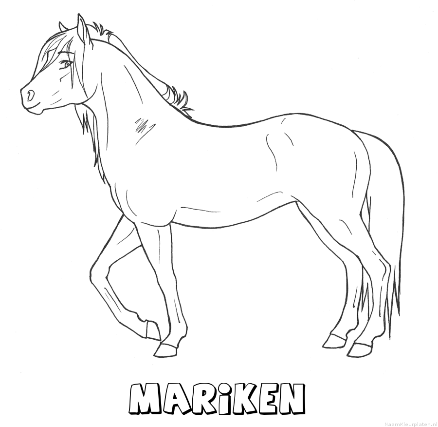 Mariken paard kleurplaat