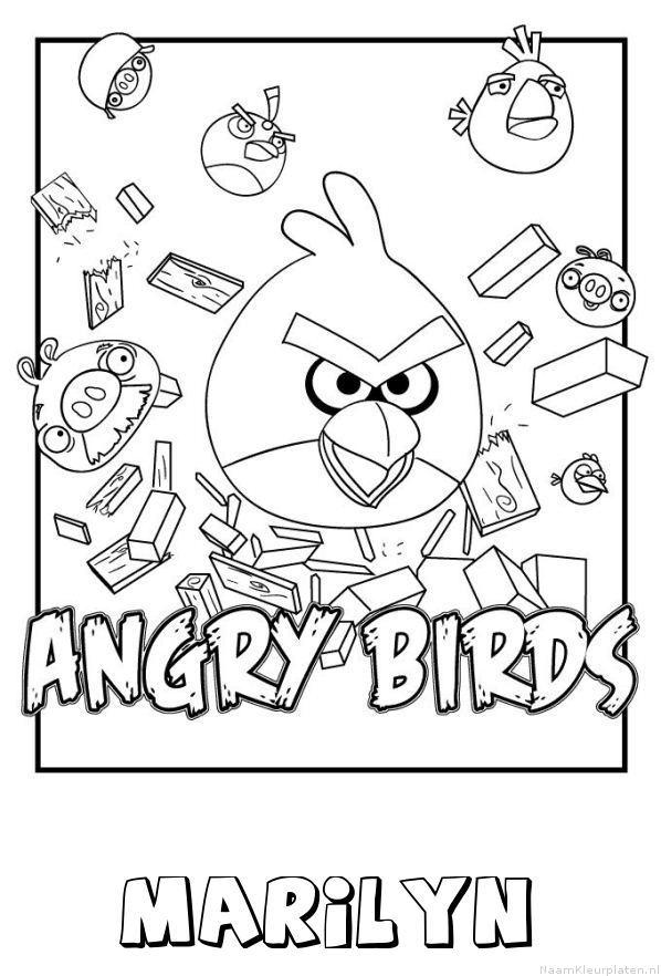 Marilyn angry birds kleurplaat