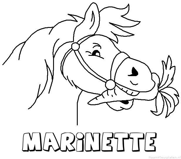 Marinette paard van sinterklaas kleurplaat