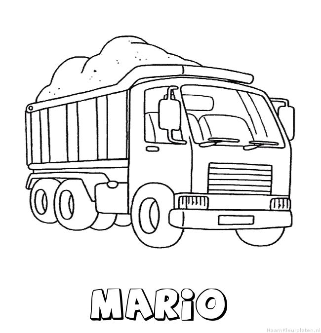 Kleurplaten Mario Auto.Mario Vrachtwagen Naam Kleurplaat