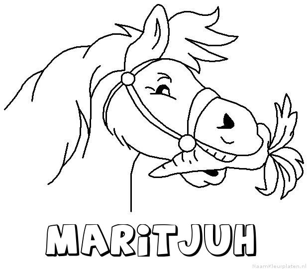 Maritjuh paard van sinterklaas kleurplaat